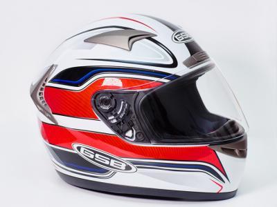 Шлем для мотоцикла G-335 CORSA (white red black)