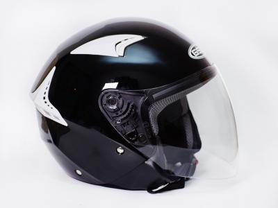 Шлем для мотоцикла G-240 BLACK (black shiny)
