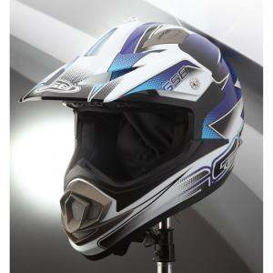 Шлем для мотоцикла XP-14 PRO RACE (white blue)